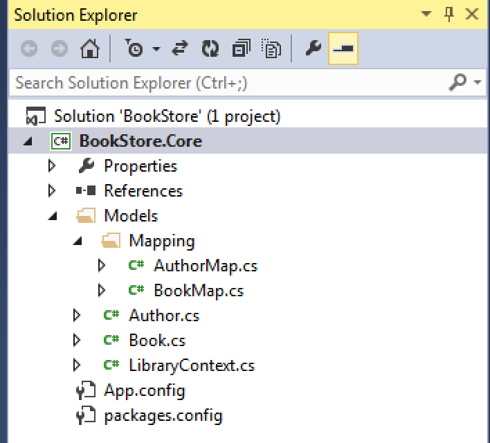 EF Solution Explorer
