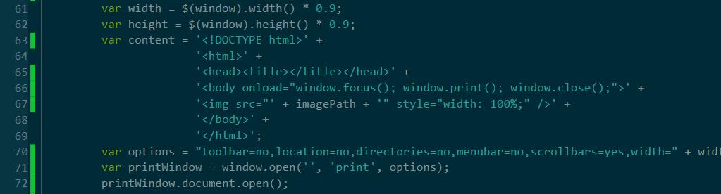 Cross browser print image javascript